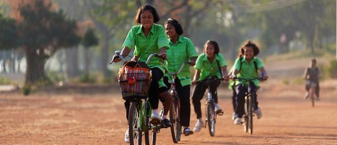 andare a scuola in bici